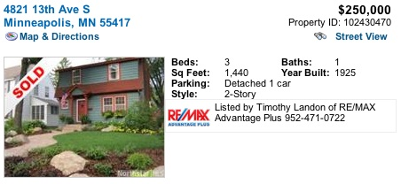 home sold in Minnehaha Parkway