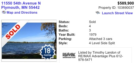 homes sold on basslake